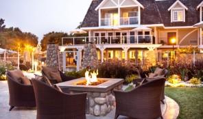 Carlsbad Inn Beach Resort Outdoor Fireplace