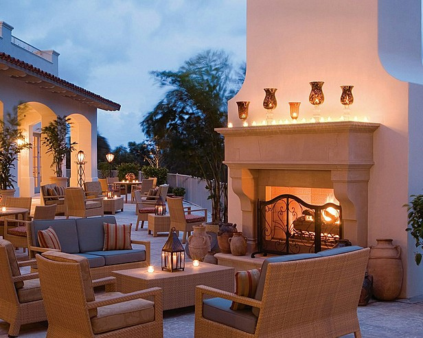 Four Seasons Residence Club Aviara Outdoor Fireplace