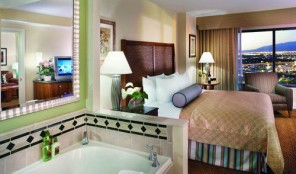 Hilton Grand Vacations Club on the Las Vegas Strip Master Bedroom and Bath
