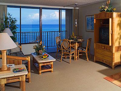 Kahana Beach Vacation Club Living Area