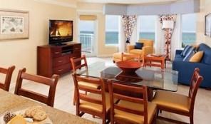 Marriott Aruba Surf Club Dining and Living Areas