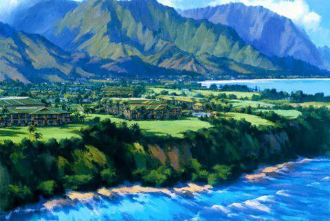 Westin Princeville Ocean Resort Villas Aerial View
