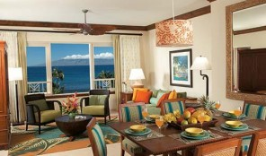 Marriott Maui Ocean Club Dining and Living Areas