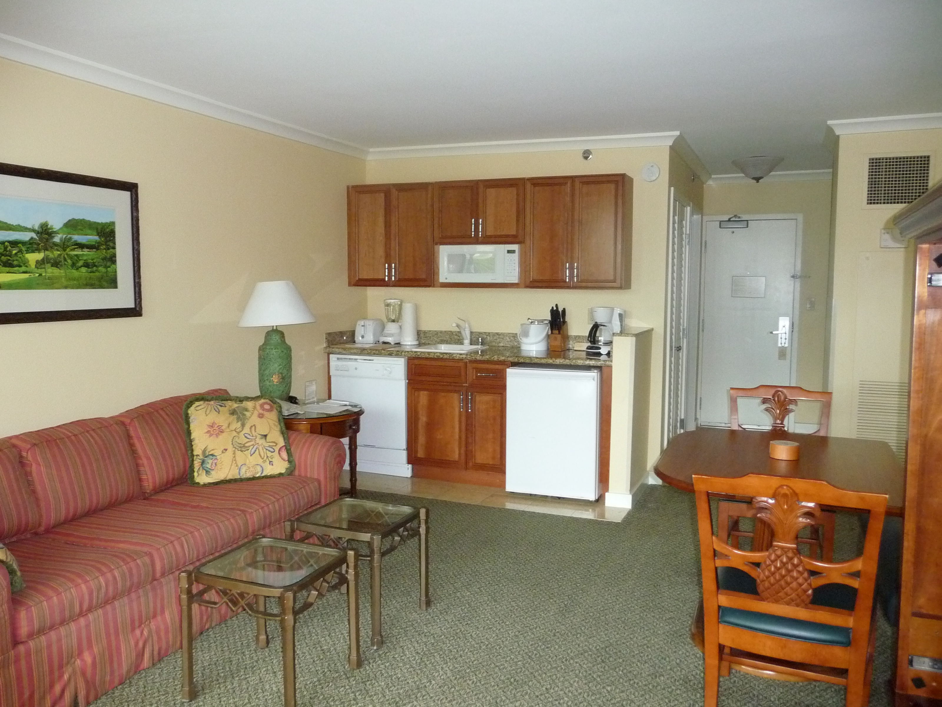 Marriott Maui Ocean Club Living Area