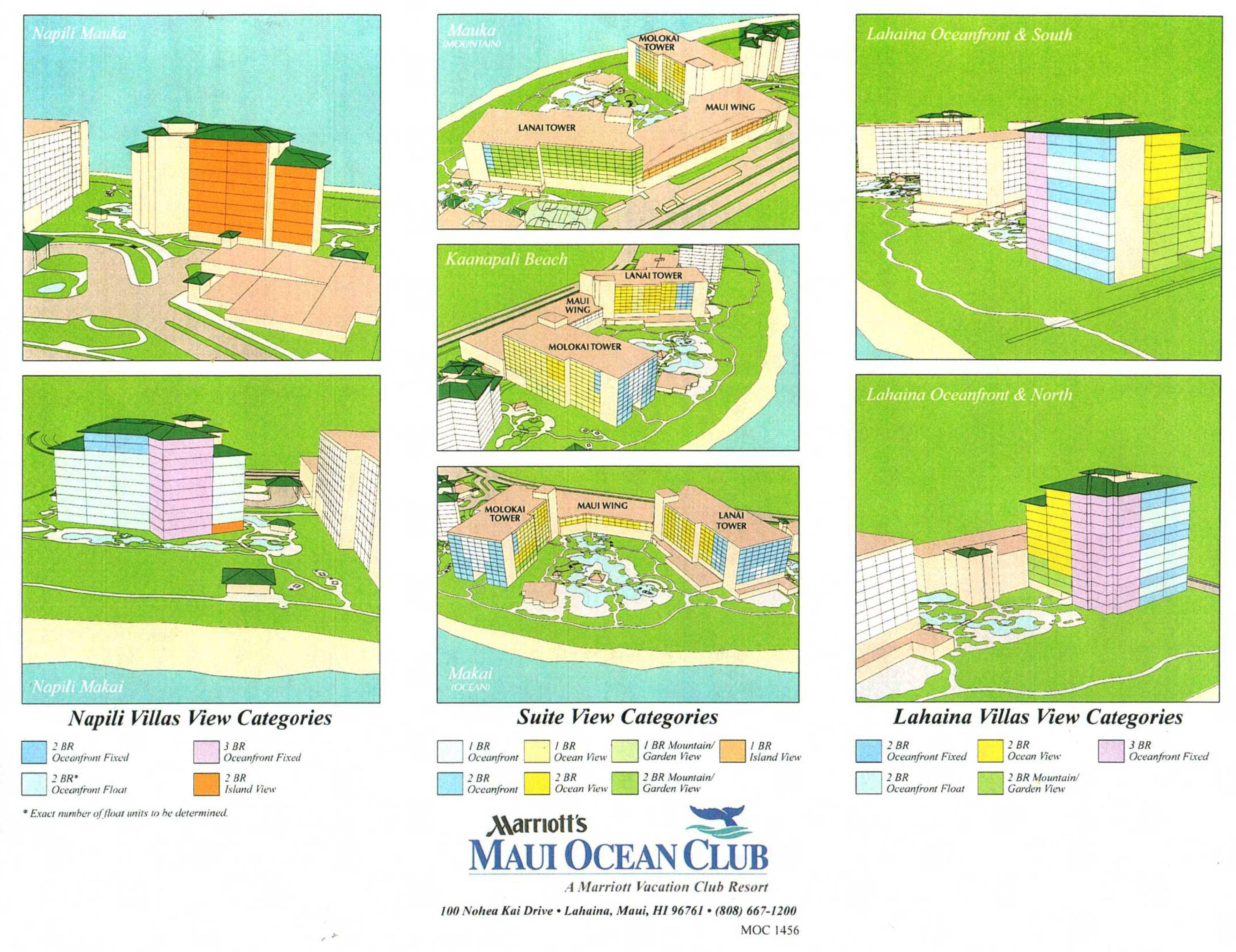 map marriott maui ocean club view categories. marriott  advantage vacation timeshare resales
