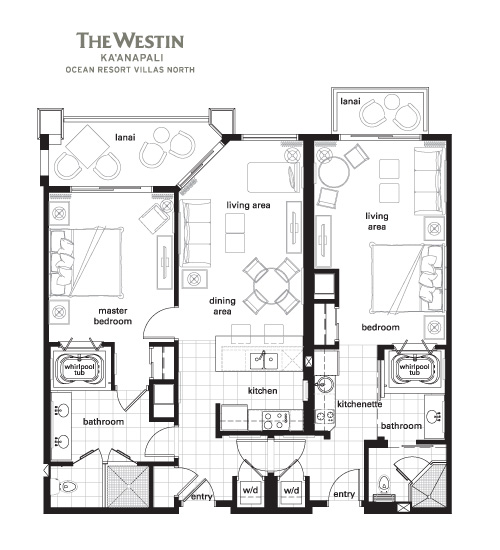 Westin kaanapali north 2014 maintenance fees advantage for 2 bedroom villa floor plans