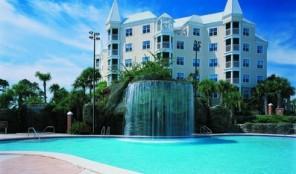 Hilton Grand Vacations Club at Seaworld International Center Pool and Waterfall