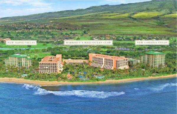 Marriott Maui Ocean Club Aerial View
