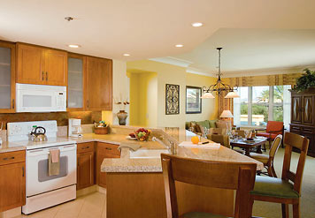 Marriott Canyon Villas at Desert Ridge Kitchen and Living Areas