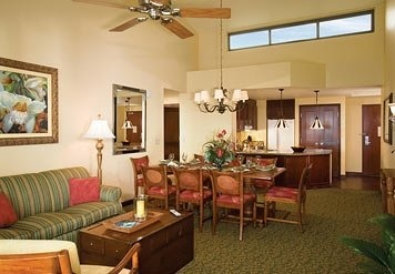 Marriott Ko Olina Beach Club Living and Dining Areas