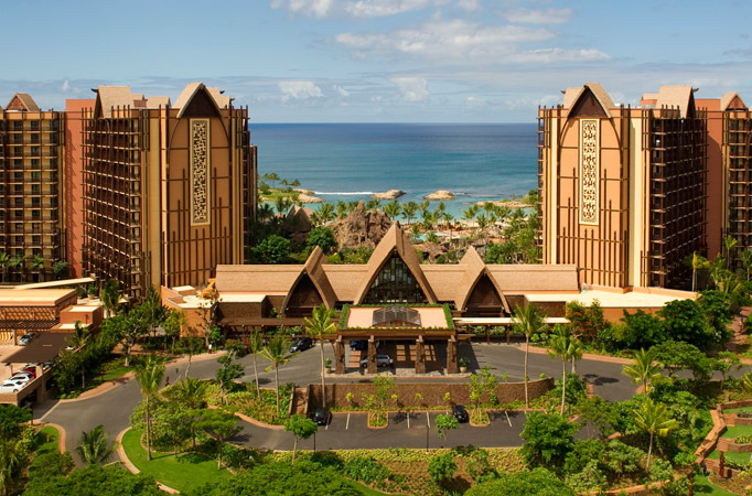 Aulani, Disney Vacation Club 2019 Points Chart