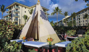 Glam-B-Q includes a well-appointed, teepee-style tent