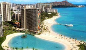 Hilton Grand Vacations at Hilton Hawaiian Village Aerial